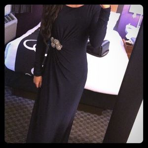Vince Camuto navy blue gown